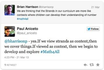 math context or content